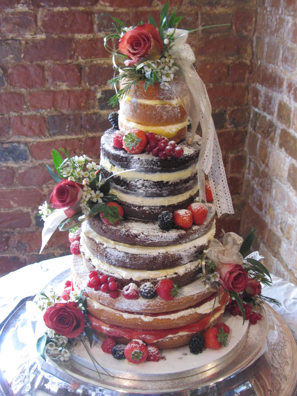 Layered Sponge Wedding Cake
