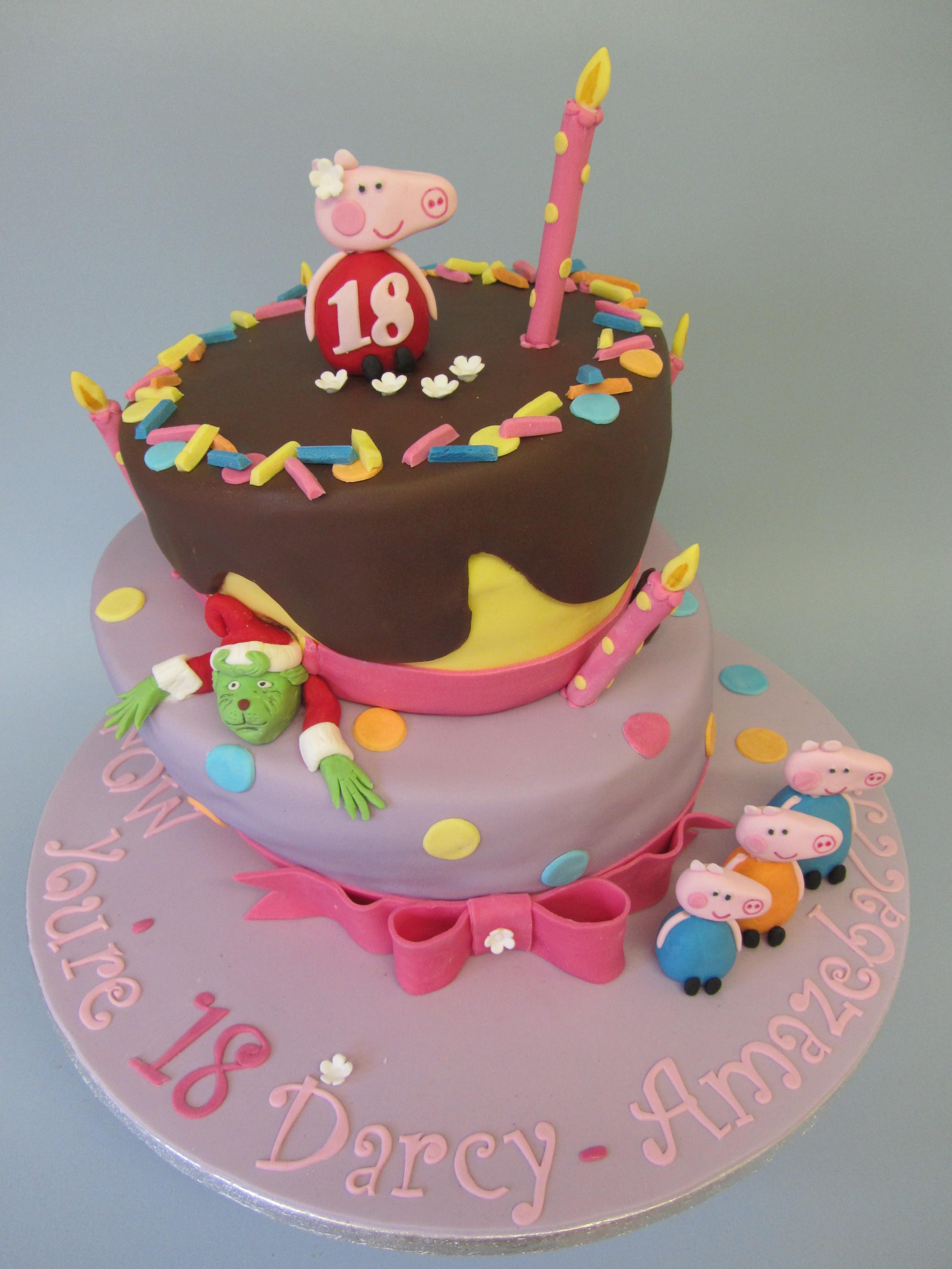 Wonky Fun Birthday Cake Delicious Dial A Cake