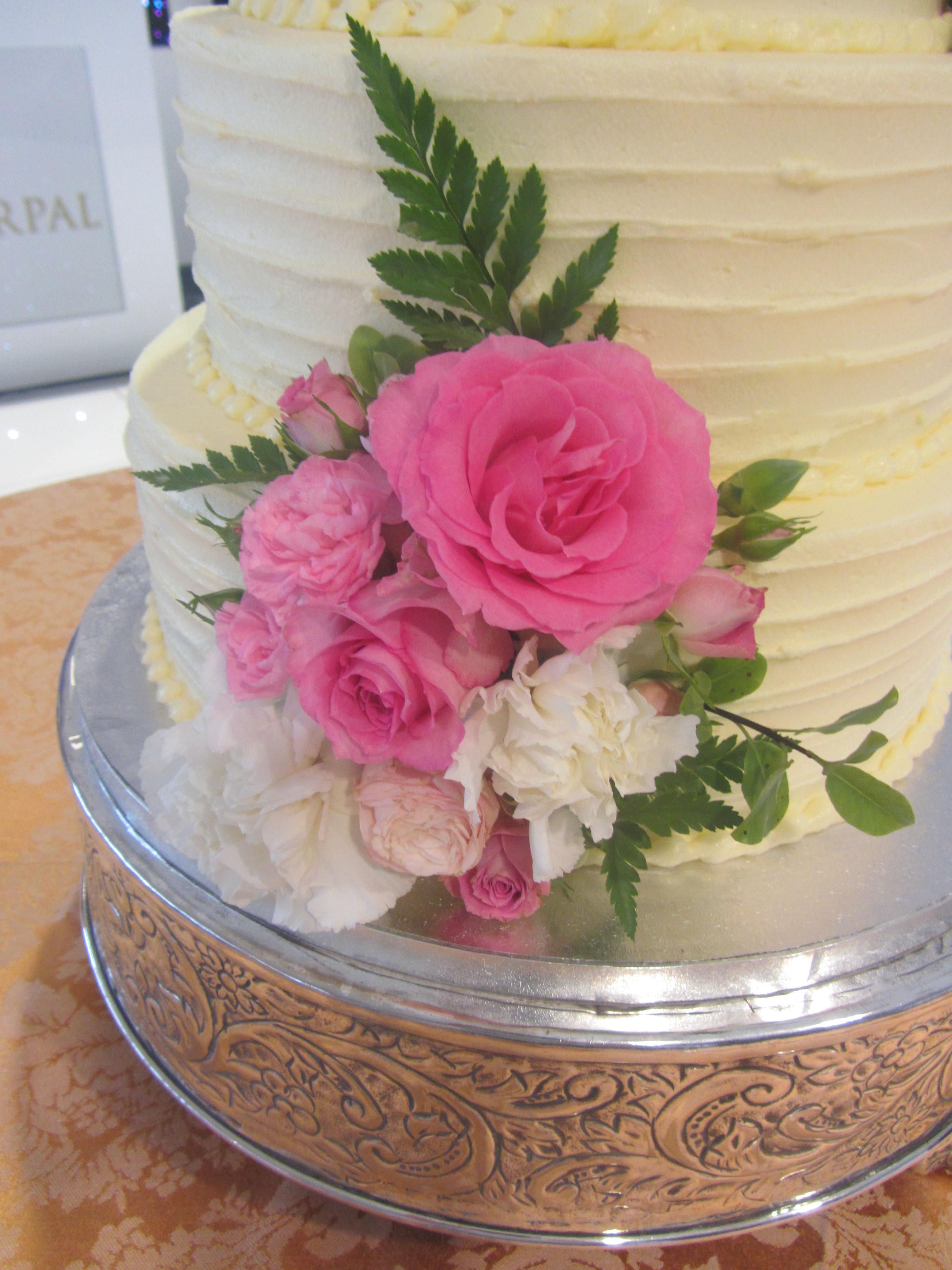 Buttercream 4 Tier Wedding cake | Delicious Dial A Cake